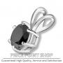 2.50 ctw Certified 14k Solid White Gold 6 Prong Basket AA Black Diamond Pendant