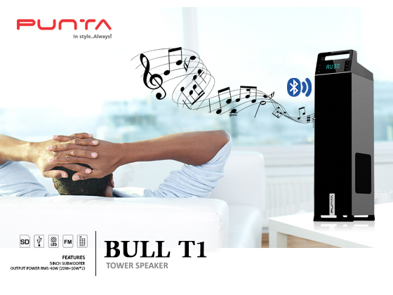 Watch out our new punta bull t1 tower speaker.