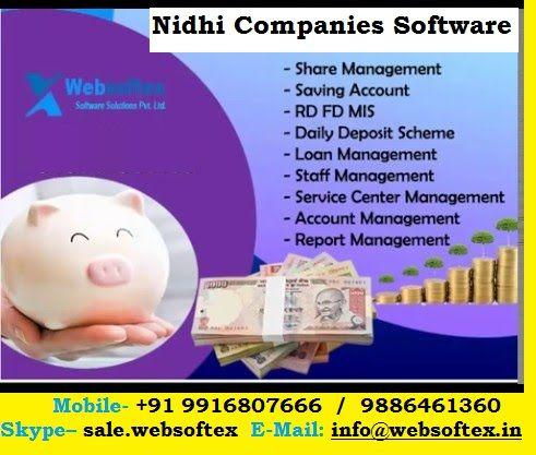 Advance nidhi, nidhi society software, nidhi company software