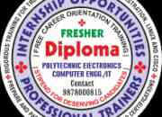 Fresher Female Diploma Polytechnic (IT/ Computer) 1st Div. Call: 9878000815