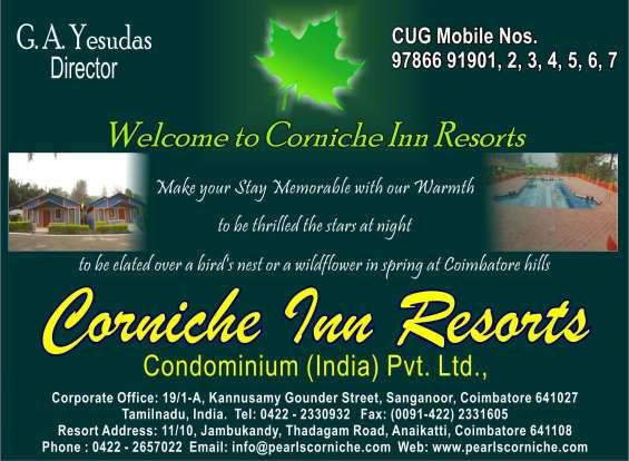 Relax at the foothills of lush green anaikatti corniche resorts