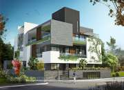 Durg  3d Bungalow rendering services 110#