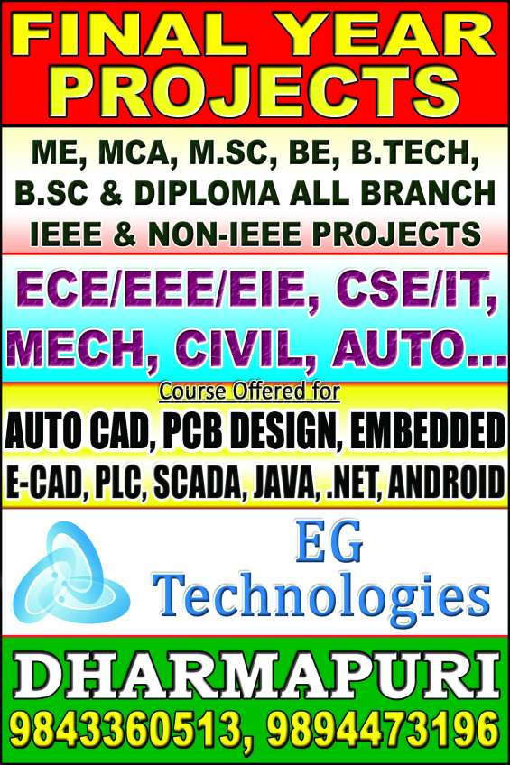 Ieee 2015-2016 final year projects for engineering arts and science students like me, mca,
