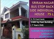 Sri Ram nagar bus stop back side individual house