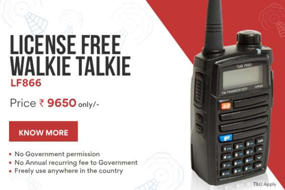 Talkpro launches india's first license free walkie talkie starting at rs. 9650