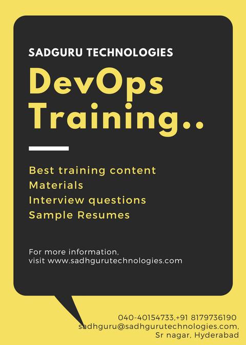 Devops online training from hyderabad