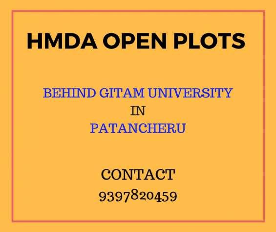 Hmda residential open plots for sales in patancheru